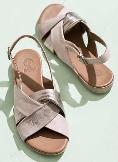 Elle Deri Sandalet Vizon
